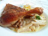 Pečená kachní stehna s kedlubnami na smetaně recept ...
