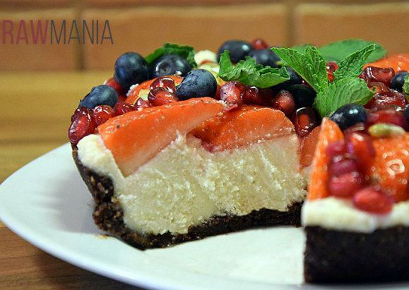 Nepečený ovocný dortík recept