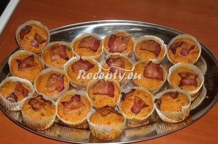 Salámové muffiny recept  uzeniny