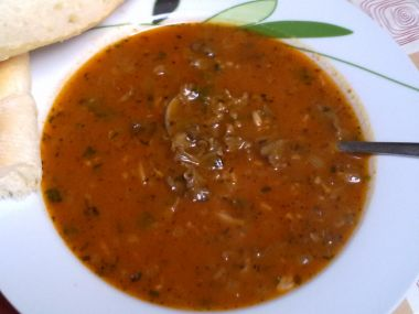 Polévka z kotrče(dršťková)