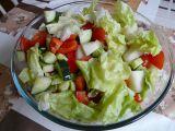 Zeleninový salát se žlutým melounem recept