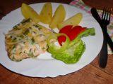 Rybí pánvička s fazolkami recept
