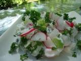 Satrica  tvarohový salát s jarní cibulkou recept