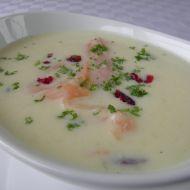Krémová polévka s uzeným lososem recept