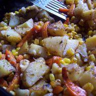 Pečená bramborovo-mrkvová přílloha recept