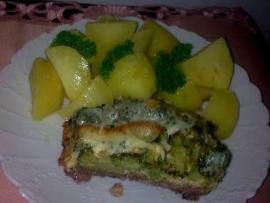 Zapečená brokolice s mletým masem