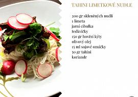 Tahini limetkové nudle recept