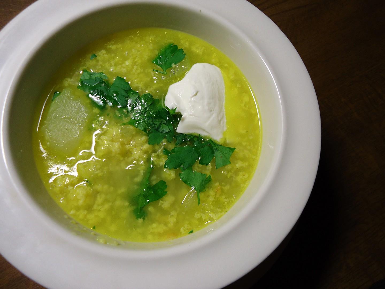 Polévka z tykve s kurkumou recept