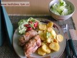 Kuřecí závitky s broskví recept