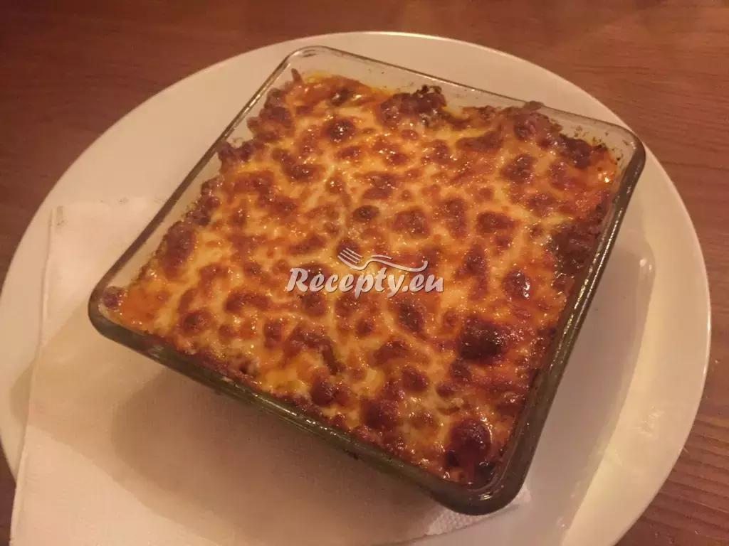 Žampiónové lasagne recept  těstoviny