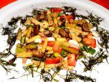 Fazolkový salát se žampiony recept