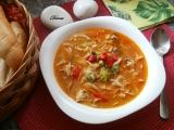 Svačinová kuřecí polévka načerveno recept