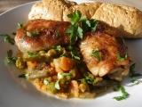 Kuřecí na letní zelenině a víně v PH recept