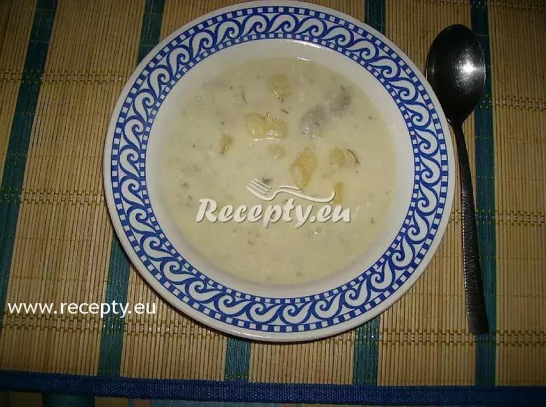 Smetanová polévka z naložených hub recept  polévky