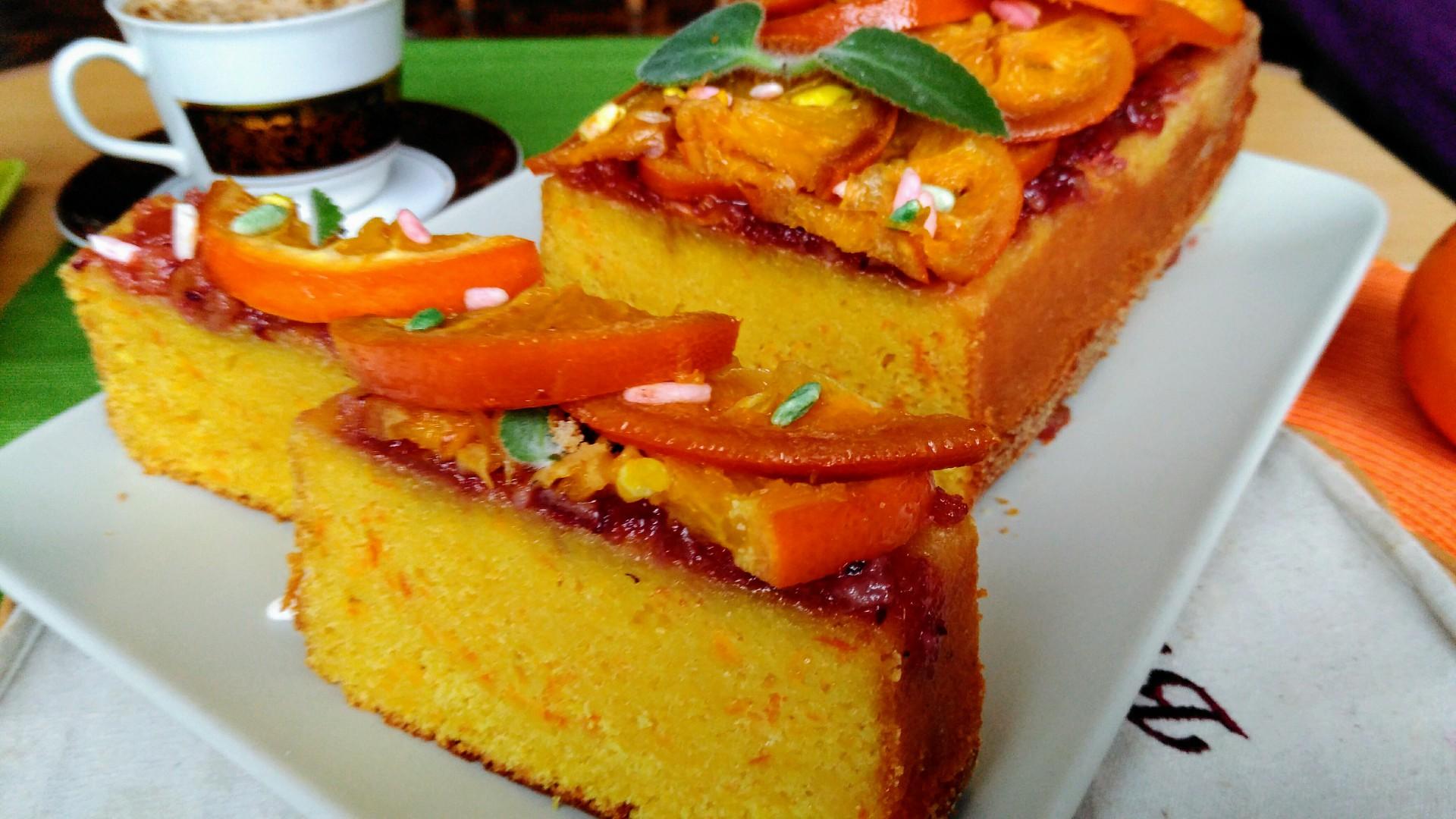 Pomerančový piškotový moučník recept