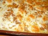 Bramborové pyré zapečené s masem a sýrem recept