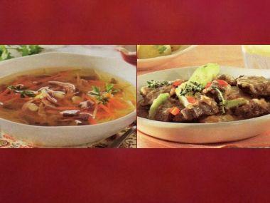 Oběd 82  Kuřecí polévka a Skopové dumlíky