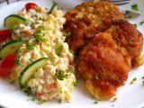 Bramborový salát a kuřecí řízek recept