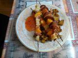 Špízy s pečeným bramborem recept