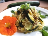 Cuketovo-houbové rizoto recept