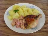 Kuře s jablky, sýrem a slaninou recept