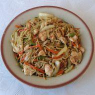 Čínské nudle s kuřecím masem recept