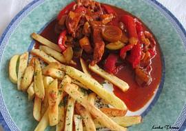 Kuřecí prsa s cuketou a paprikou recept