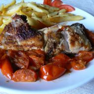 Kapr s cherry rajčaty recept