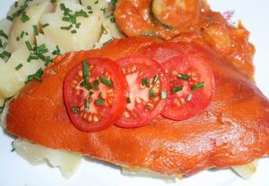 Filety na zelenině  zapečené
