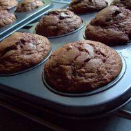 Čokoládové muffiny s mandlovými plátky recept