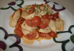 Kuřecí prsíčka s rajčátky a tymiánem