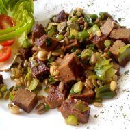 Vegi steak s jarní cibulkou recept