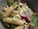 Těstovinový salát s ředkvičkou recept