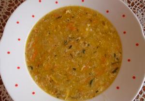 Pórková polévka s mrkví