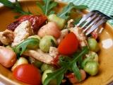 Gnocchi s rukolou, kuřecím masem a rajčátky recept