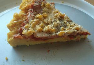 Pizza z polenty  zdravě