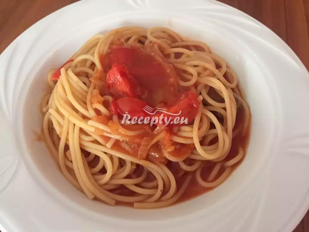 Špagety s masovými knedlíčky recept  těstoviny