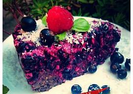 RAW koláč z černého rybízu recept