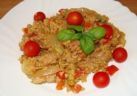 Bulgur s vepřovým masem a zeleninou recept