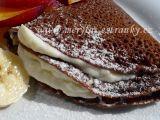 Čokoládové palačinky s tvarohovo  pudinkovým krémem a čerstvým ...