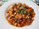 Zeleninový guláš s uzeninou a fazolí recept