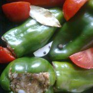 Plněné pečené papriky recept