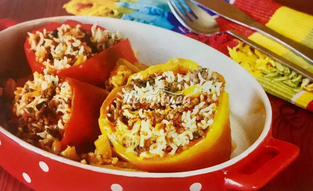 Pečené plněné papriky recept  fitness recepty