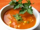 Tomatová polévka s kukuřicí a fazolemi recept