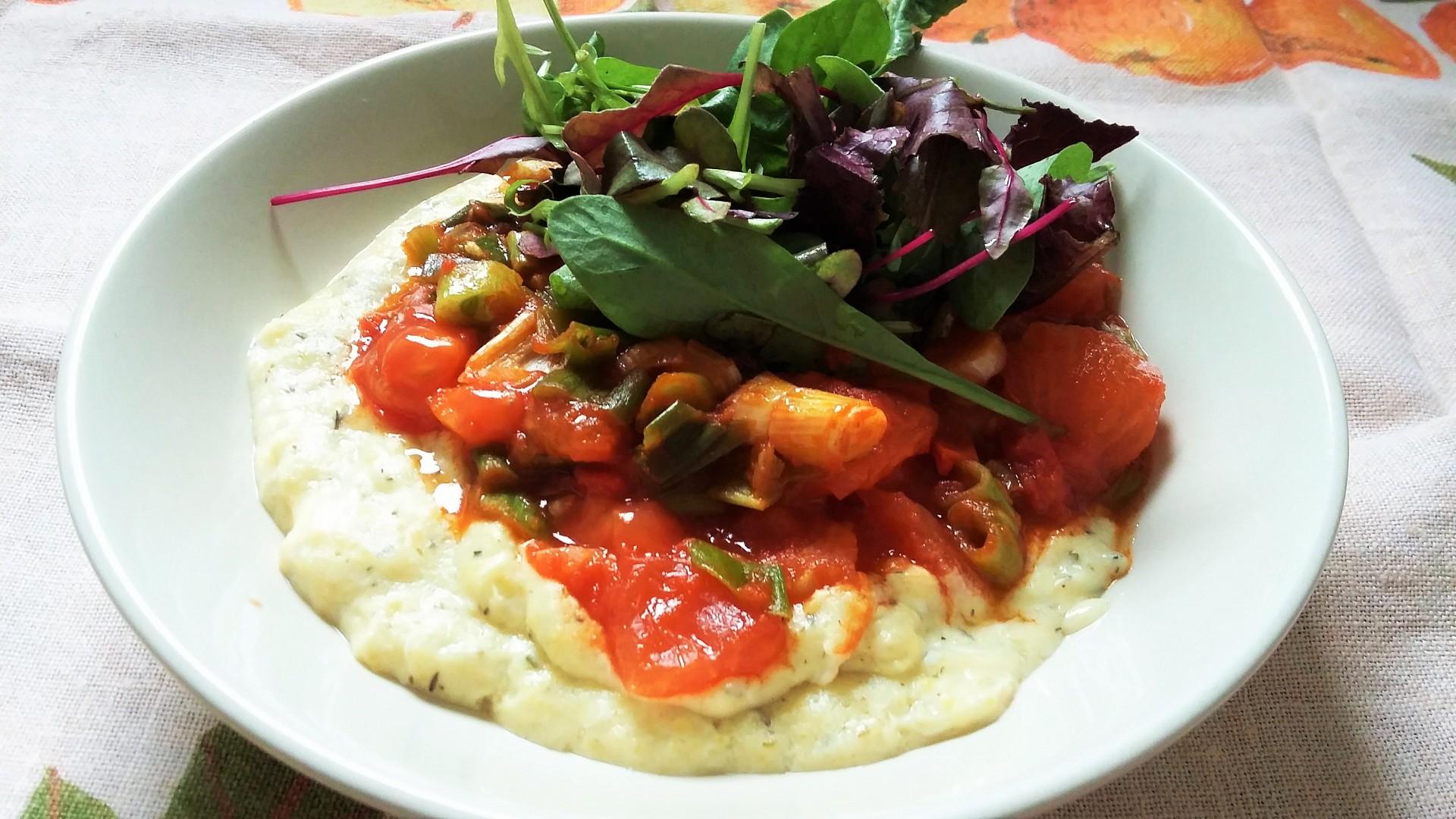 Vaječná polenta s rajčaty po provensálsku recept