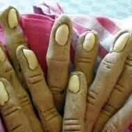 Halloweenské prsty recept
