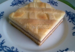 Mřížkový koláč s tvarohem
