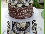 Čokoládový dvoupatrový dort recept