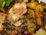 Kuře pečené s bramborem recept