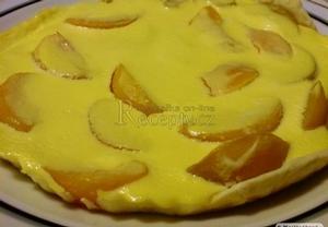Broskvový koláč z listového těsta